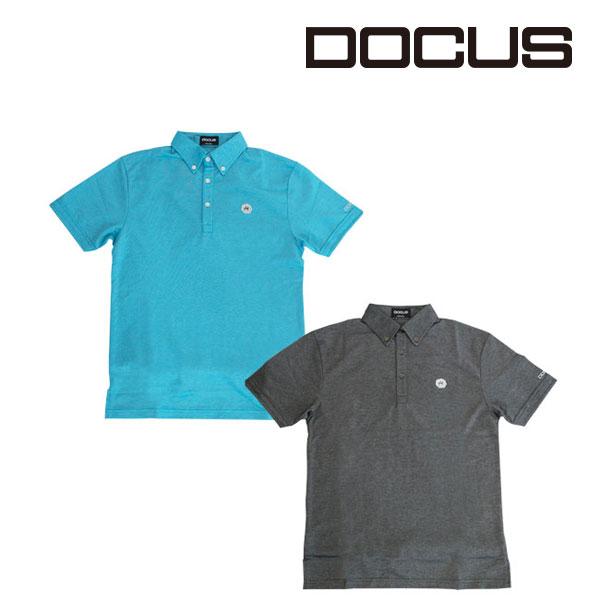 ドゥーカス DOCUS メンズゴルフウェア ボタンダウンポロシャツ ポロ シャツ DCM18S001 あす楽