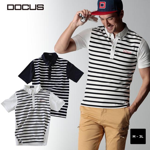ドゥーカス ボーダー ポロシャツ Border Polo メンズ 大人 かっこいい おしゃれ 2020年 春夏 新作 ゴルフウェア 半袖 ポロ DOCUS dcm20s004 ユナイテッドコアーズ あす楽