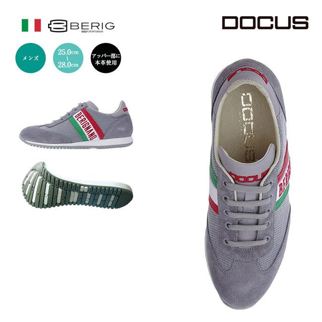 ドゥーカス DOCUS BERIGNANO イタリア製 メンズ ゴルフ スパイクレス シューズ グレー あす楽