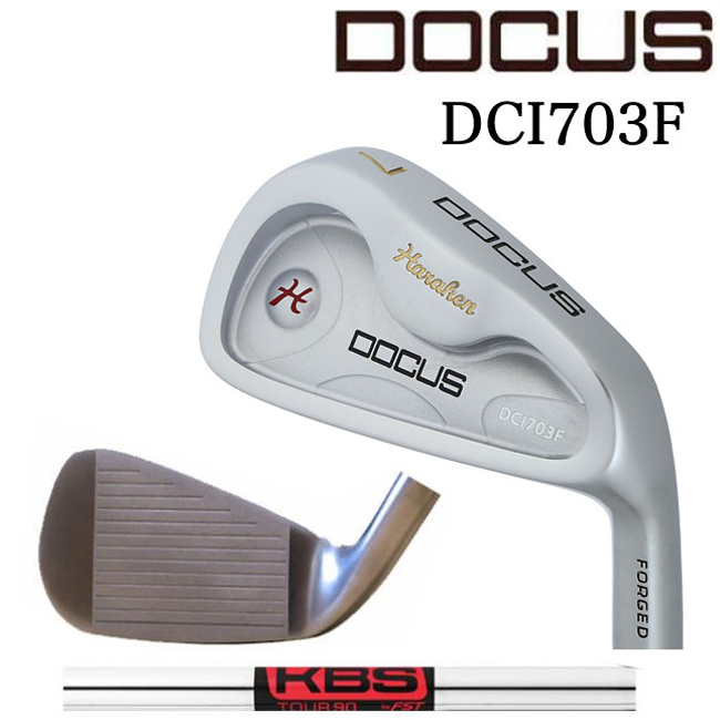 ドゥーカス DOCUS メンズゴルフクラブ アイアン DCI703F SILVER 単品 #4,AW,SW KBS TOUR 90シャフト