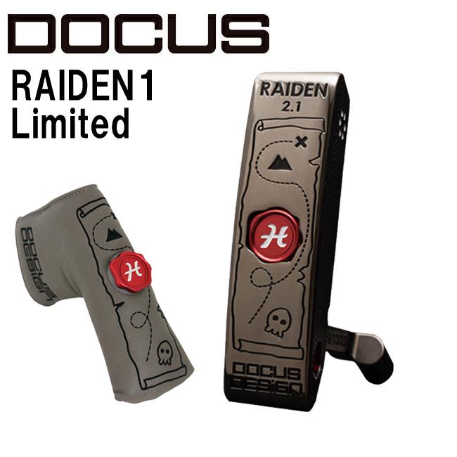 ドゥーカス DOCUS メンズゴルフクラブ パター RAIDEN2.1 Limited パイレーツ スチールシャフト ヘッドカバー付き 世界1本限定【harusport_d19】