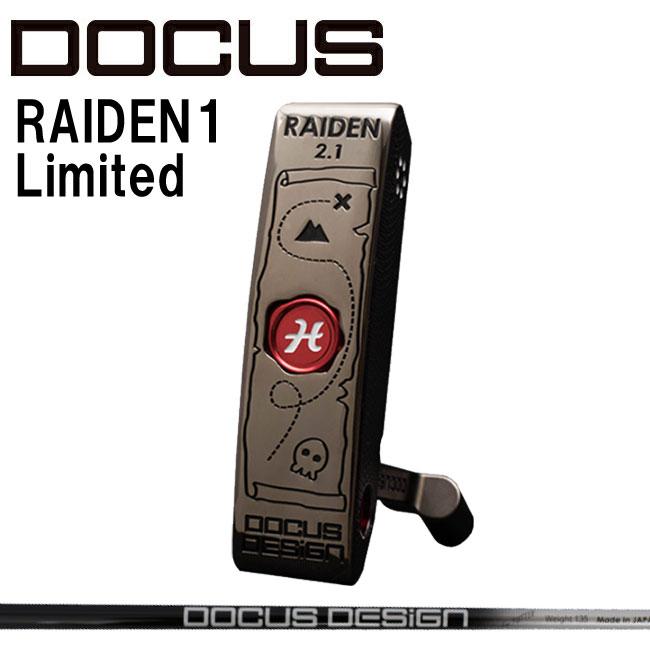 ドゥーカス DOCUS メンズゴルフクラブ パター RAIDEN2.1 Limited パイレーツ カーボンシャフト 世界1本限定 【thxgd_18】