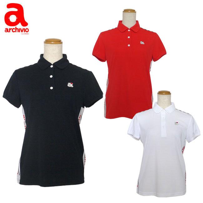 アルチビオ archivio レディースゴルフウェア サイドラインポロシャツ A659404 あす楽