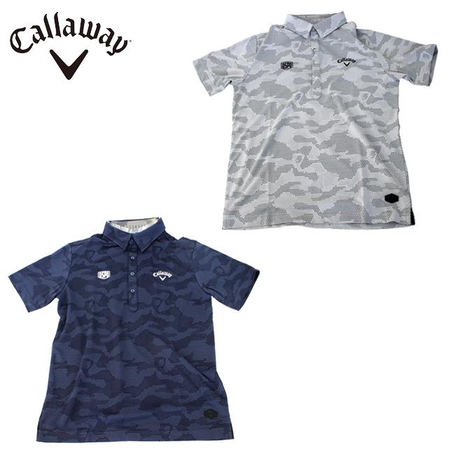 キャロウェイ ゴルフ 春夏 シェブロン カモフラ レギュラー カラー シャツ Callaway GOLF メンズ ゴルフ ウェア 241-9157504 あす楽