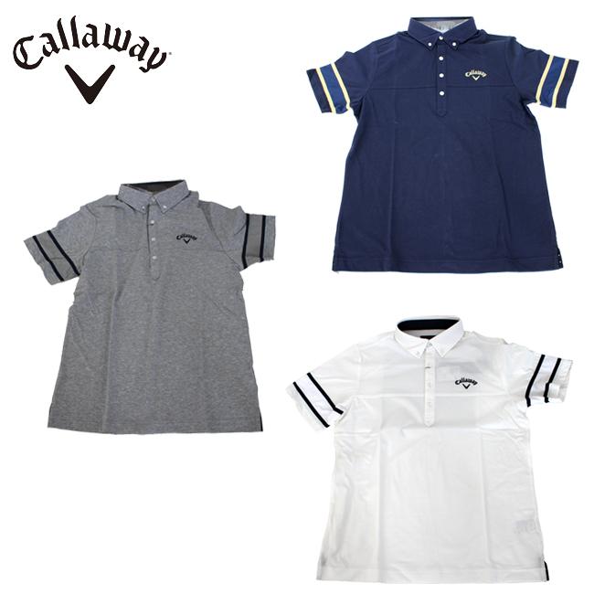 おしゃれ 大人 新作 メンズ ゴルフウェア ゴルフ ショート 2019年 春夏 ユナイテッドコアーズ シャツ カラー かっこいい ボタンダウン Callaway GOLF 241-9157507 キャロウェイ