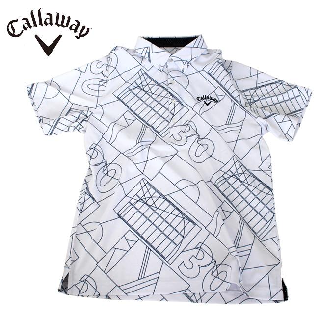 キャロウェイゴルフ Callaway GOLF メンズ ゴルフ ウェア コート柄プリントボタンダウン カラーシャツ 241-9157513 あす楽