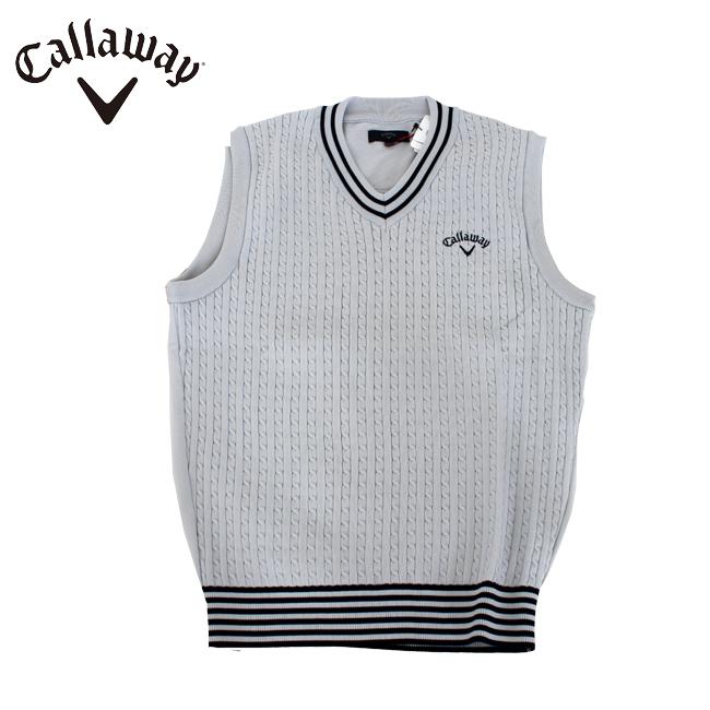 2019 春夏 Callaway GOLF【キャロウェイゴルフ】メンズ Vネックニットベスト 241-9161500 あす楽