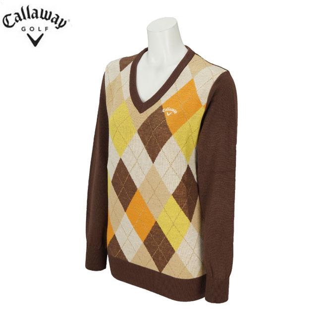 キャロウェイゴルフ Callaway GOLF レディースゴルフウェア アーガイルVネックセーター 241-8260805
