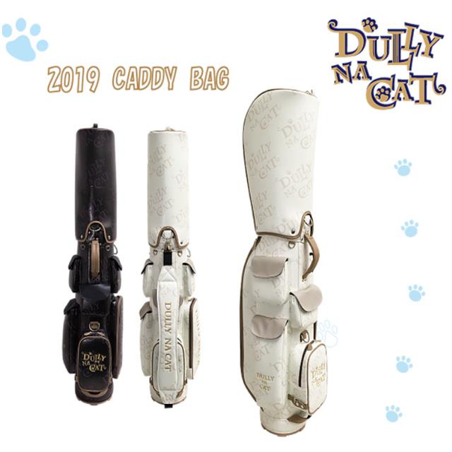 2019年新作 ダリーナキャット DULLY NA CAT ゴルフ キャディバッグ ホワイト ブラック シンプル 可愛い DN-CB01