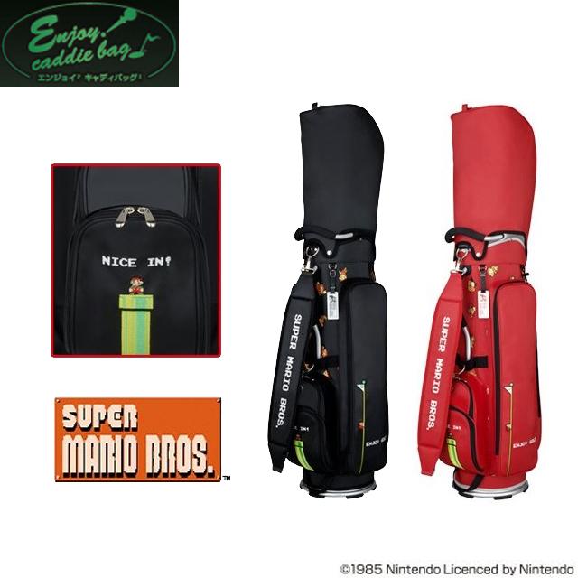 エンジョイキャディバッグ Enjoy caddiebag メンズゴルフ スーパーマリオ SUPER MARIO キャディバッグ SMCB002B あす楽