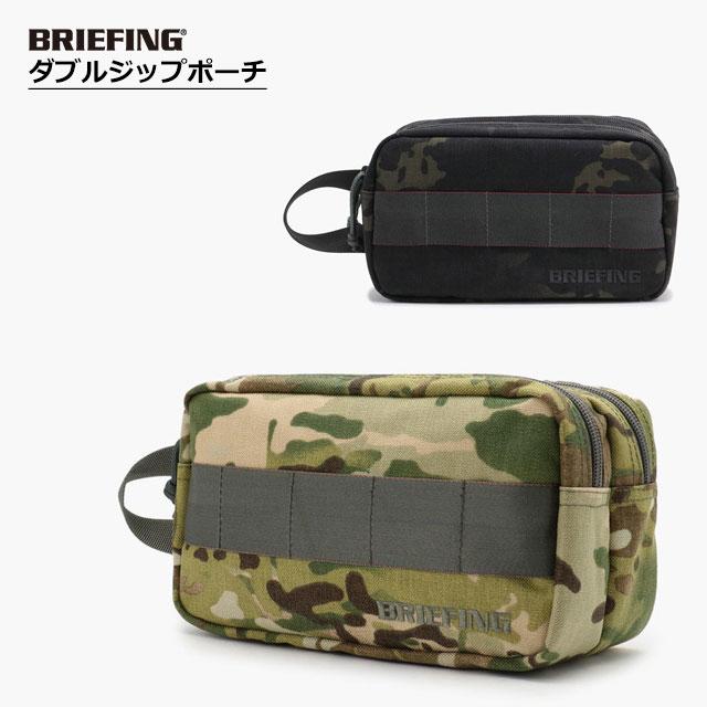(お買い得クーポン配布中)ブリーフィング BRIEFING メンズ DOUBLE ZIP POUCH-3 GOLF ダブルジップ ポーチ マルチカモ マルチカモブラッ7 BRG191A09