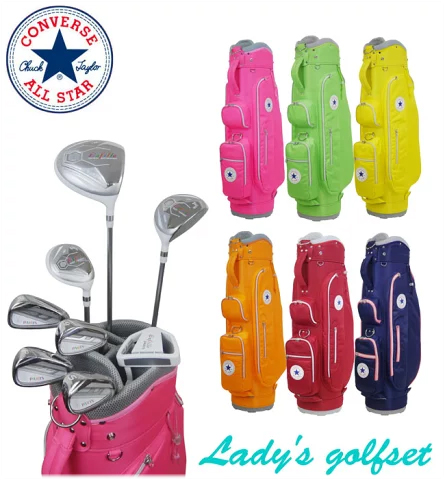 コンバース CONVERSE レディース ゴルフ クラブ クラブセット 8本+CB PS-LSET01