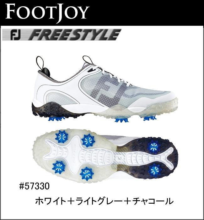 フットジョイ FOOTJOY Freestyle フリースタイル ゴルフシューズ ホワイト+ライトグレー+チャコール 57330 2016