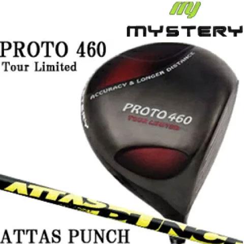 ミステリー MYSTERY メンズゴルフクラブ PROTO 460 TOUR LIMITED ドライバー ATTAS PUNCH シリーズシャフト