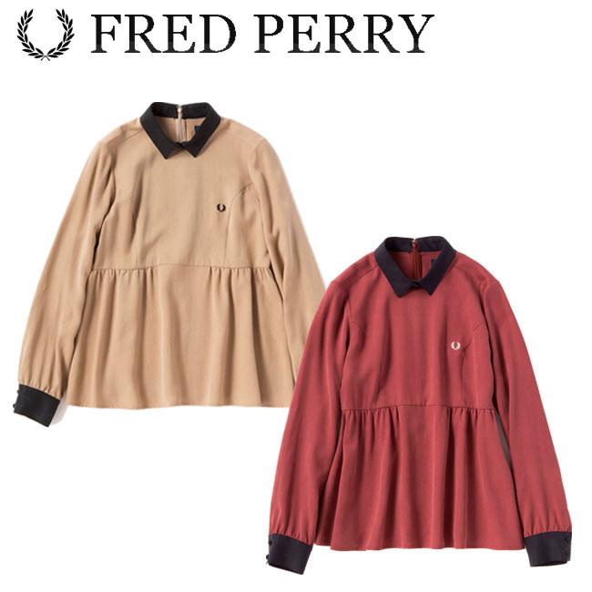 フレッドペリー FRED PERRY プルオーバー シャツ Pullover Shirt レディース ウェア F8433 あす楽