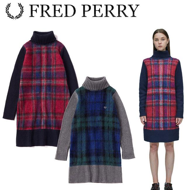 フレッドペリー FRED PERRY タータン ニット ドレス レディース ウェア F8446 あす楽