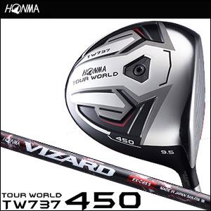 本間ゴルフ HONMA GOLF メンズ ドライバー TOUR WORLD DRIVER TW737 450 VIZARD EX-Cシャフト 2016
