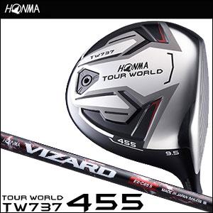 本間ゴルフ HONMA GOLF メンズ ドライバー TOUR WORLD DRIVER TW737 455 VIZARD EX-Cシャフト 2016