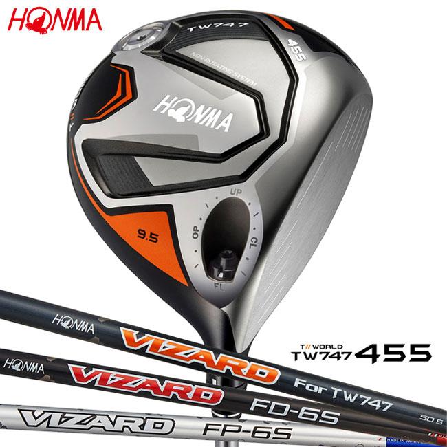 本間ゴルフ HONMA GOLF メンズ ドライバー TOUR WORLD DRIVER TW747 455 VIZARD FD FPシャフト 2018