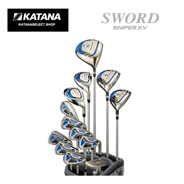 カタナゴルフ KATANA GOLF メンズゴルフクラブ SWORD SNIPER XV スウォード スナイパー アイアン(#6,#7,#8,#9,PW,AW,SW)+DW10.5度+FW(#3,#5)+UT(#4,#5) オリジナルパター 13本セット/R