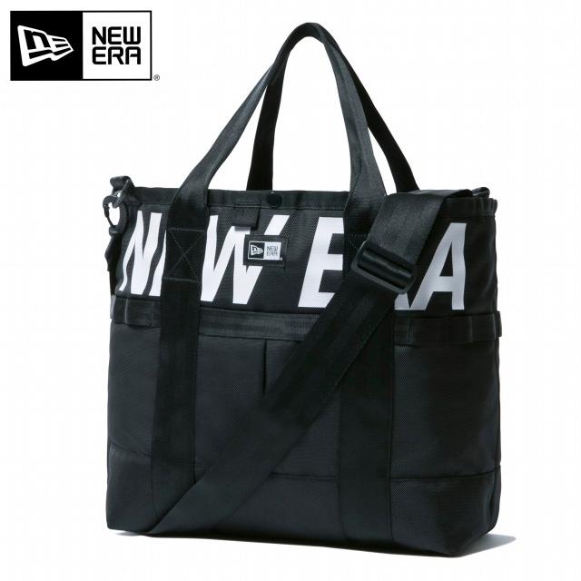 ニューエラ NEWERA メンズ トートバッグ 22L プリントロゴ ショルダーバッグ 2Way ブラック ホワイト 11901468