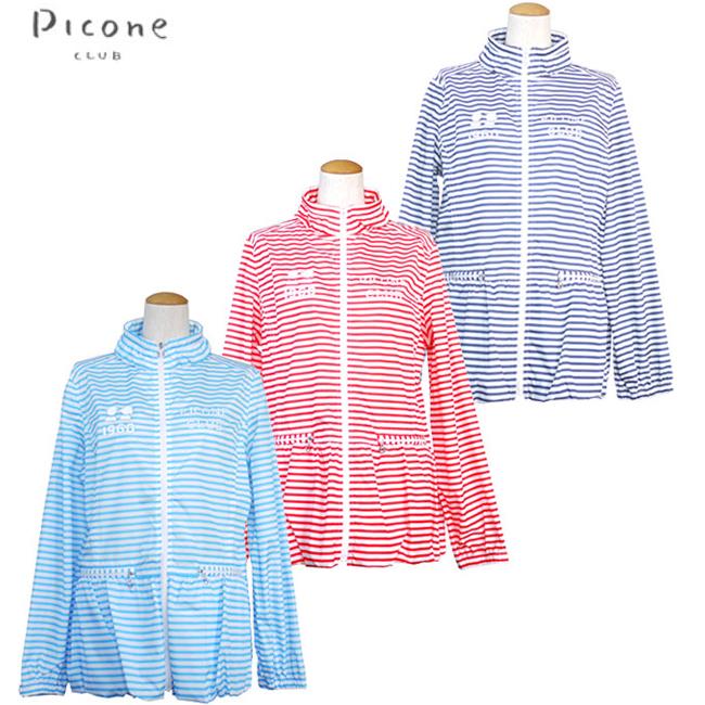 ピッコーネクラブ Picone CLUB レディースゴルフウェア ボーダー柄ブルゾン C454220 あす楽