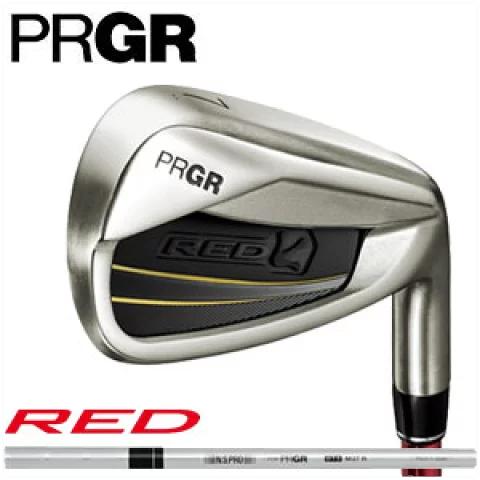 プロギア アイアン 5本セット PRGR メンズ RED TITAN FACE IRON REDチタンフェイス #6-#9,Pw ソフトスチール 2016