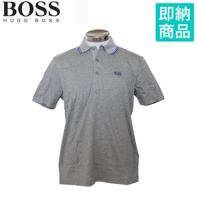 ヒューゴボス HUGO BOSS メンズゴルフウェア ポロシャツ グレー あす楽