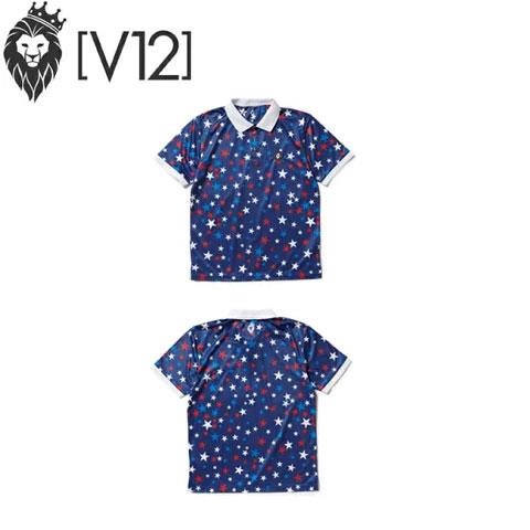 ヴィトゥエルヴ V12 メンズゴルフウェア マルチスター ポロシャツ MULTI STAR POLO ネイビー V121810-CT08-78 NAVY あす楽
