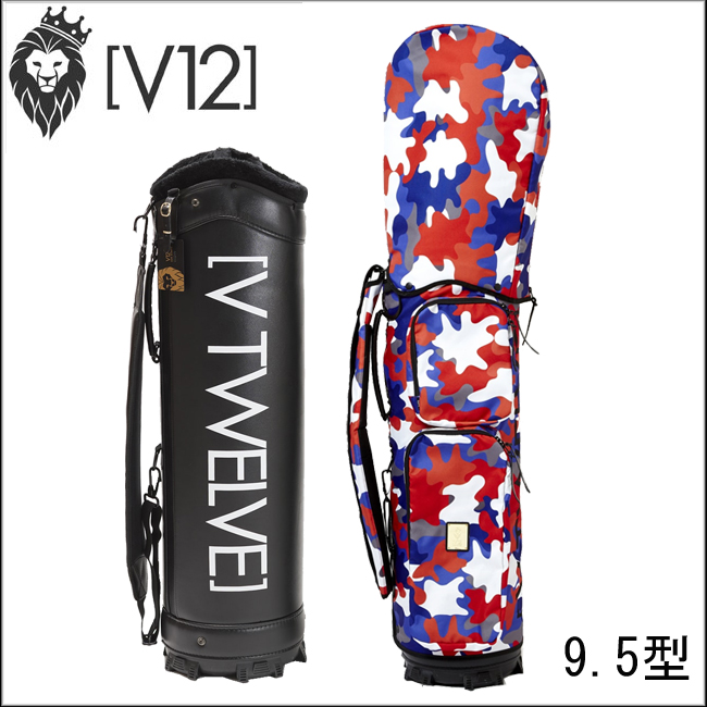 ヴィトゥエルヴ V12 メンズ ゴルフ キャディバッグ JIGSAW ジグソー(トリコ) 着せ替えキャディバッグ(カバー+本体) V121720-CV01M あす楽