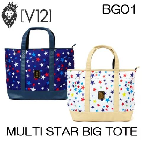 ヴィトゥエルヴ V12 ゴルフ トートバッグ MULTI STAR BIG TOTE マルチスタービッグトート V121721-BG01