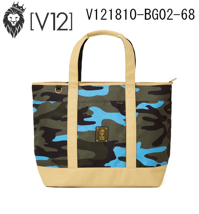 ヴィトゥエルヴ V12 ゴルフ ビッグトートバッグ BIG TOTE(OLIVE SAX CAMO) オリーブサックスカモ V121810-BG02 あす楽