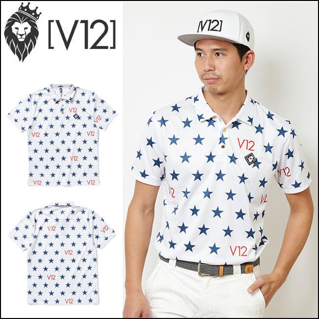 ヴィトゥエルヴ V12 メンズゴルフウェア ポロシャツ ALL STAR POLO ホワイト V121810-CT15-02 WHITE あす楽