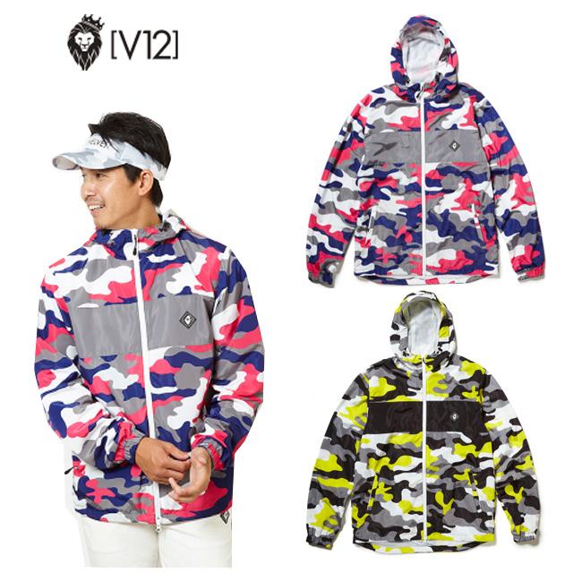 V12 ヴィトゥエルヴ CAMO BLOUSON 2 メンズ 秋冬 防寒 洋服 ゴルフ ウェア 軽量 ナイロン ブルゾン ピンクカモ イエローカモ v121820-jk02 ユナイテッドコアーズ あす楽 即納