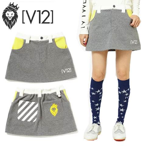 ヴィトゥエルヴ V12 F2 スカート グレー F2 SKIRT GRAY レディース ゴルフ ウェア v121820-sk01 あす楽