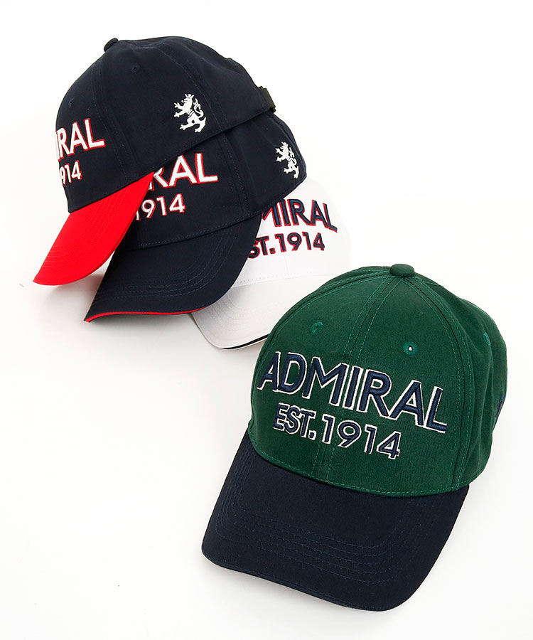 AM 配色orシンプル ロゴ刺繍キャップ ゴルフウェア キャップ アドミラルゴルフ おしゃれ レディース ギフト プレゼント ご褒美