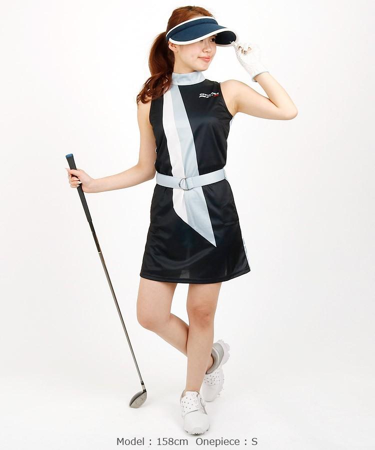 EF 【別注】スカーフ風Backエッフェルワンピース efficace エフィカス ゴルフウェア レディース 18春夏
