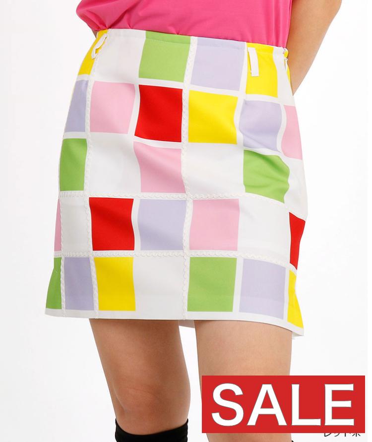 【27%OFF】【セール】AR カラフルBOXチェックスカートアルチビオ 春夏新作 ゴルフウェア レディース スカート