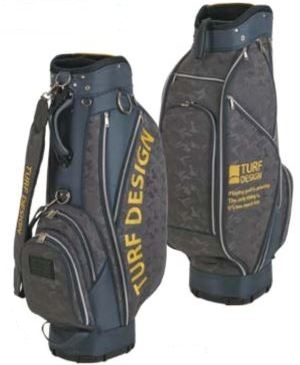 ゴルフ キャディーバッグ TURF DESIGN ターフデザイン キャディバック TDCB-1874 ミニスタンドバック付き Caddie Bag アサヒゴルフ