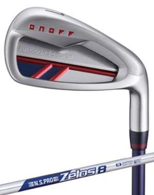 ゴルフ クラブ アイアン メンズ オノフ 赤 単品アイアン N.S.PRO ZELOS 8 スチールシャフト ONOFF IRON AKA グローブライド 2020モデル