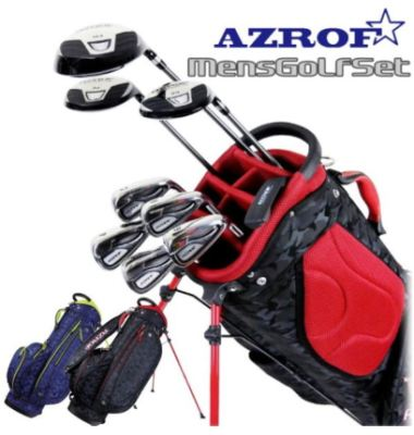 AZROF メンズ ゴルフクラブセット キャディーバッグ付き AZ-MSET01