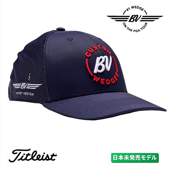 日本未発売のボーケイデザインキャップ ボーケイ Vokey BV セミカーブ メッシュ キャップ ネイビー ストライプ US仕様 実物 フリーサイズ スター Cap 商店
