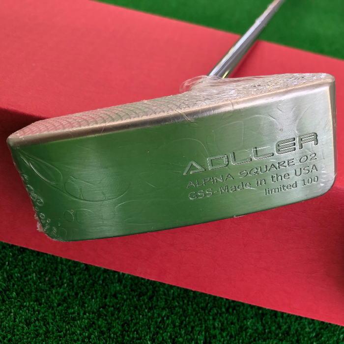 【あす楽】【数量限定】ADLLER アドラー ジャパン パター ALPINA SQUARE 01&02(made in the USA) 限定 100本 GSS 削り出しパター