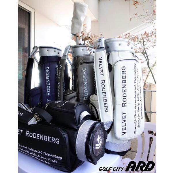 【新作】 VELVET RODENBERG ベルベットローデンバーグ グラシュアートデザイン キャディバッグ 限定 高級革 自立式 【送料無料】