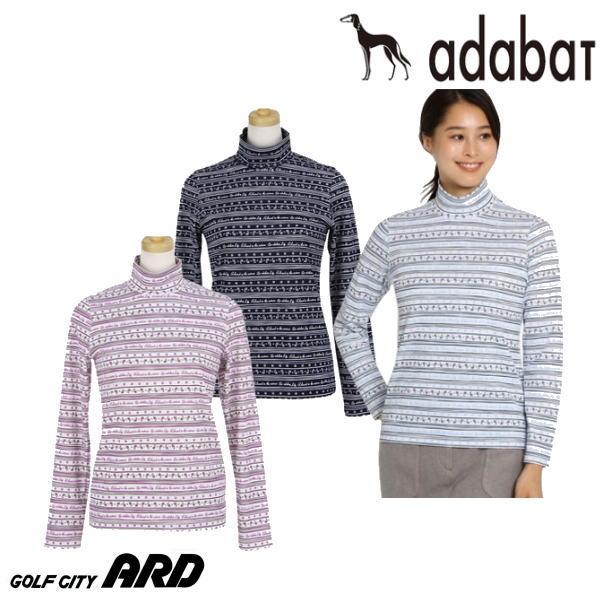 【30%OFF SALE】アダバット adabat レディース ハイネックシャツ 長袖ハイネックシャツ