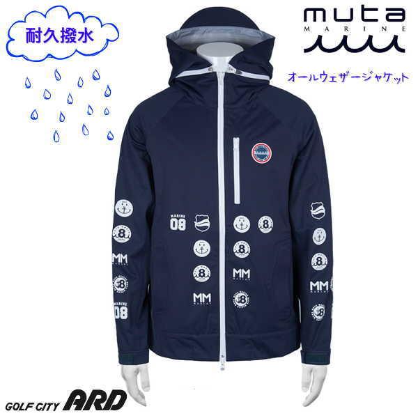 muta MARINE オールウェザージャケット GOLF ムータ マリン ゴルフ レインウェア メンズ レディース ゴルフウェア 耐久撥水 透湿性 ストレッチ