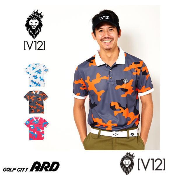 V12 ヴィ トゥエルヴ メンズ 半袖 ポロシャツ LIGHT CAMO POLO 春夏 2020  ゴルフウェア