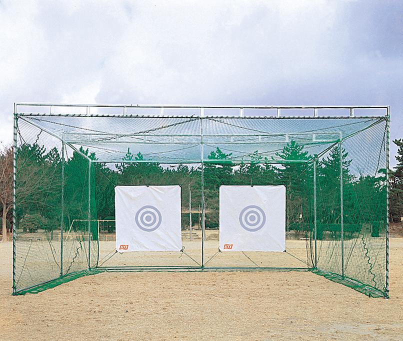 【送料別途】ゴルフネット 練習用ライト(LITE)M-71 ゴルフネット ダブル型強力(ハウス)