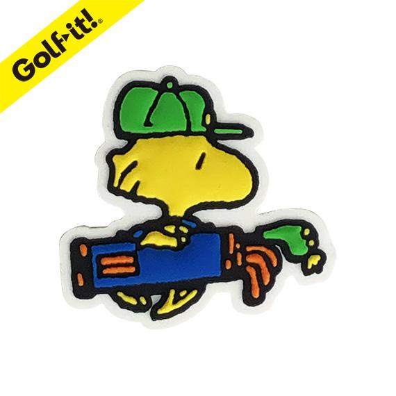 ゆうパケット対応商品 ゴルフ マーカースヌーピー ピーナッツ 日本産 マグネット内臓かわいい キャラクター PEANUTS ラウンド用品ライト GOLFボールマーカー ウッドストック ダイカットゴルフ用品 LITE 低廉 X-835