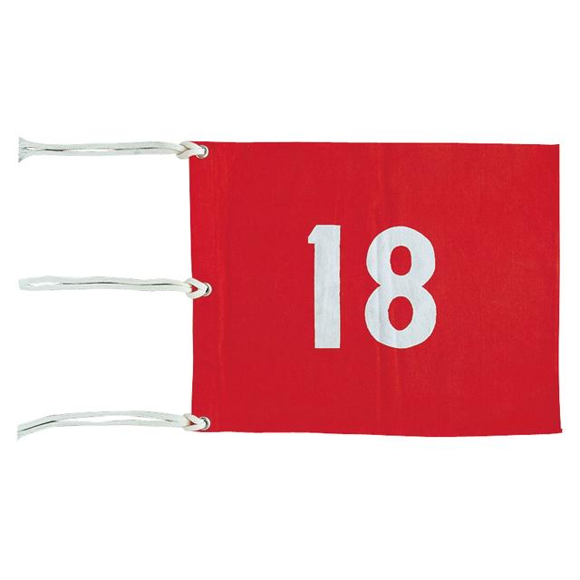 【旗】【ゴルフコース】ライト(LITE) M-105 四角旗番号付 9枚セット